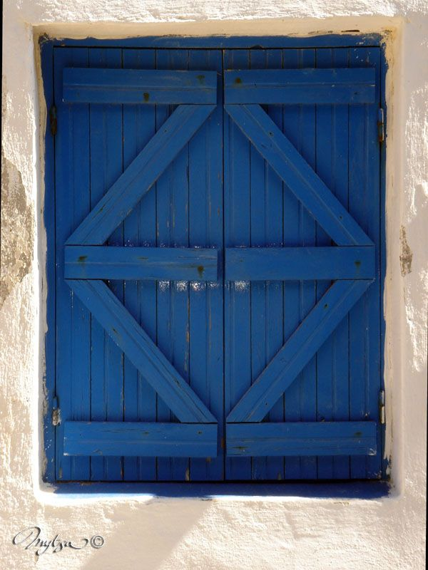 volets bleus , ganema, serifos, grece