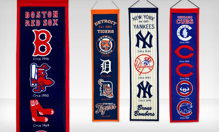 Groupon - $ 23.99 for MLB Vertical Heritage Banners ($ 29.95 List Price). Multiple Teams Available. Free Shipping and Returns.. Groupon deal price: $23.99