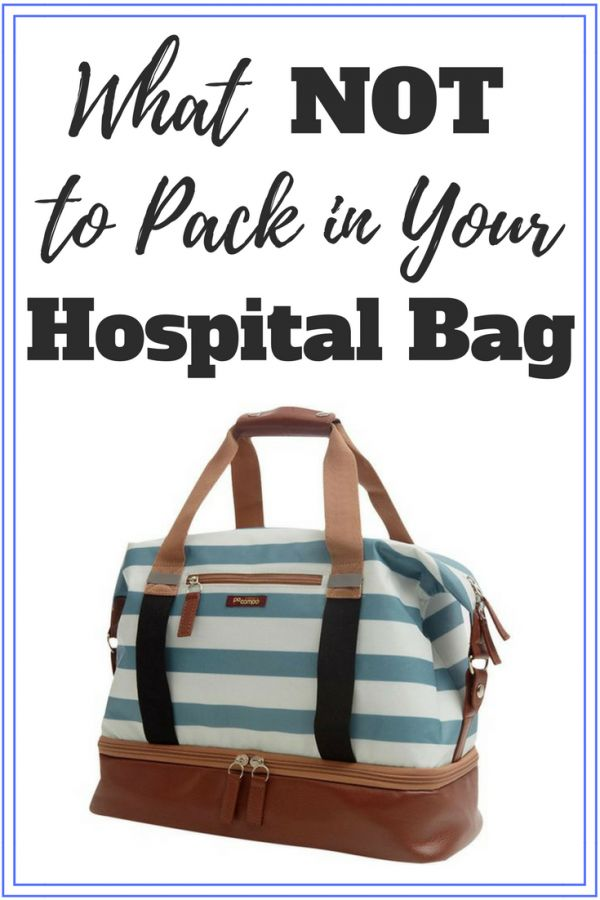 Don't overpack your baby hospital bag. Here's a complete list of what not to pack in your hospital bag for labor and delivery and why you don't need it!