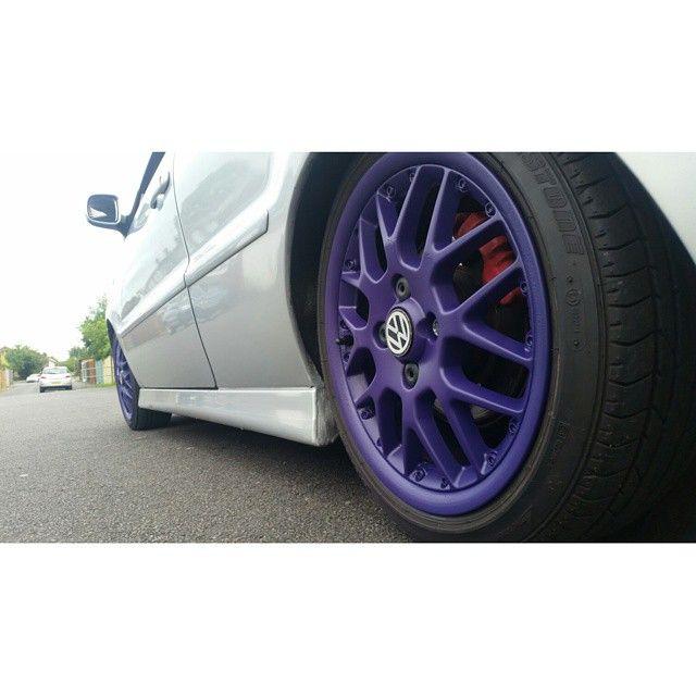 "Purple wheels yo!<span class=""emoji emoji1f648""></span> #volkswagen #polo #gti #6n2 #pologti #6n2gti #polow #hatchlife #vwhatch #staticdrop ..."