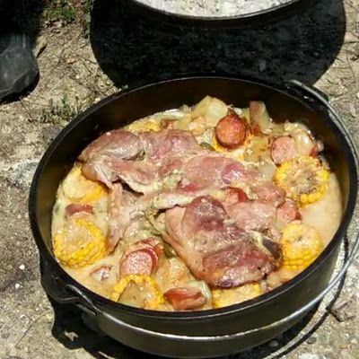 Can be cooked in oven or over coals while camping!