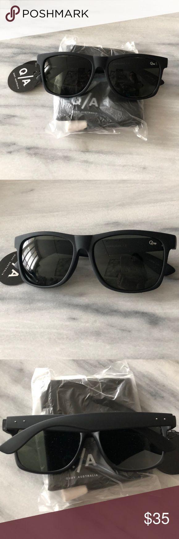 Black Quay Australia sunglasses. Never worn! Fun black matte Quay Australia sunglasses - never worn! Perfect condition. Quay Australia Accessories Sunglasses