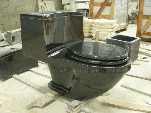 polished granite toilet