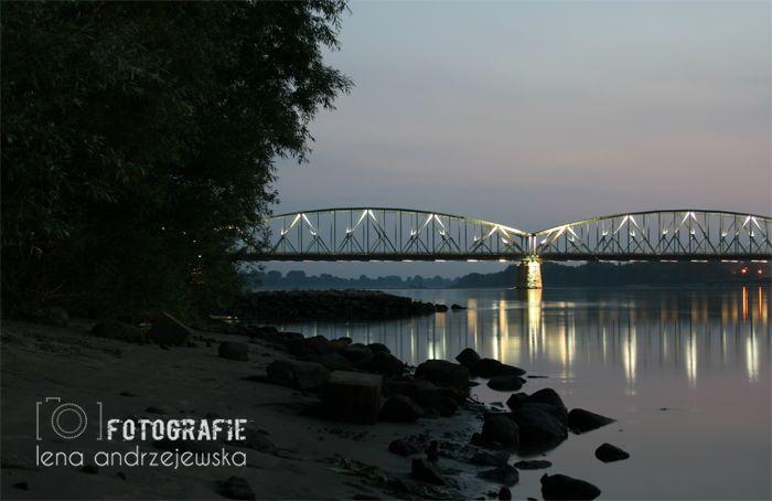 Toruń, Poland, Nicolaus Copernicus, bridge, landscape, lights,
