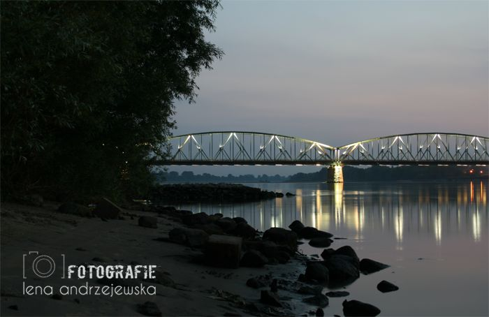 Toruń, Poland, Nicolaus Copernicus, bridge, landscape, lights,