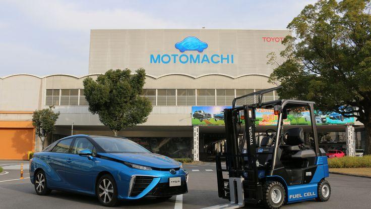 Brennstoffzelle und Wasserstoff im Toyota-PKW Mirai und in dessen Produktion Motomachi in Toyota City mit jetzt 2 und bis 2020 bis zu 180 Brennstoffzellen-Staplern!