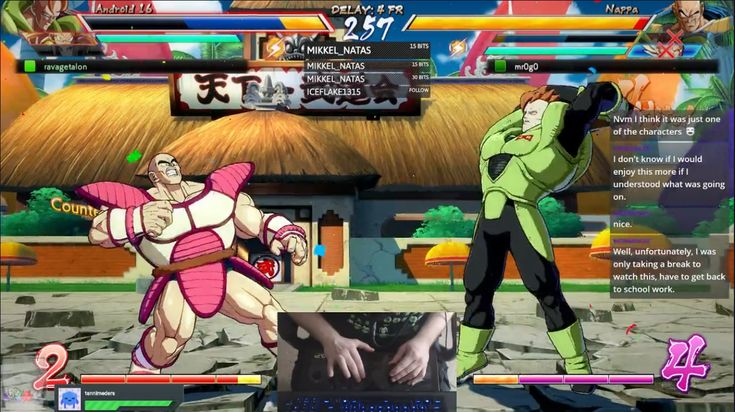 Spotted Cosmo and Wanda in a Dragonball FighterZ stream