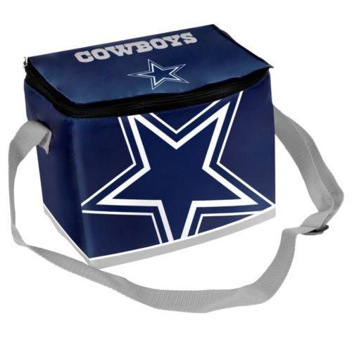 NFL-Football-Team-Big-Logo-Zipper-Lunch-Bag-6-Pack-Cooler-Pick-your-team