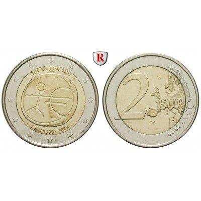 Finnland, Republik, 2 Euro 2009, bfr.: 2 Euro 2009. 10 Jahre Währungsunion. bankfrisch 5,00€ #coins