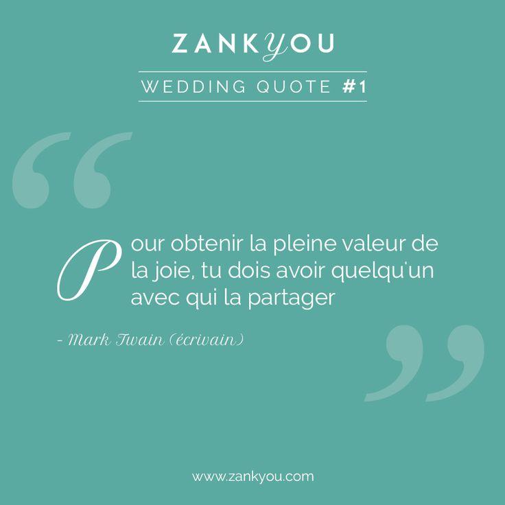 Wedding Quote #1  Et vous, qu'en pensez-vous ?