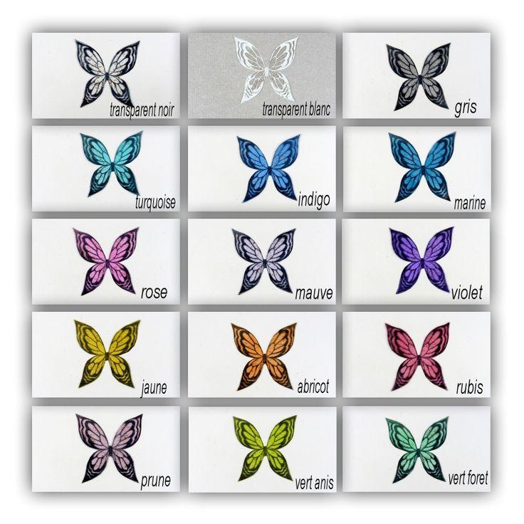 AILES PAPILLON 3.5 CM TRANSPARENT YSATIS DORE-REF 23G - Boutique www.magicreation.fr