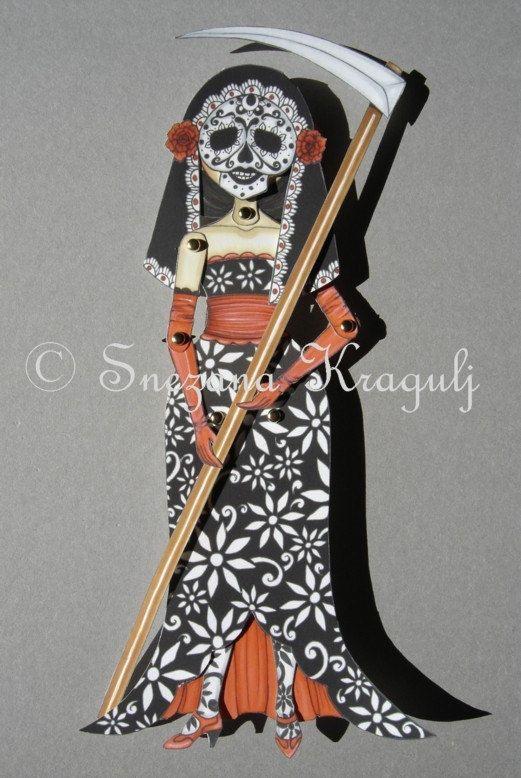 best dia de los muertos dolls images sugar  katrina dia de los muertos paper doll by katyandthecat on
