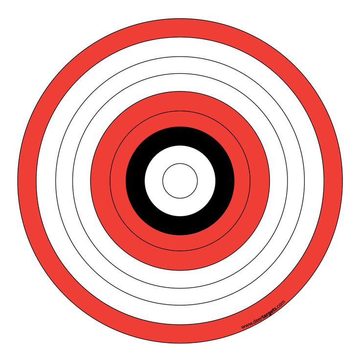 It's just a photo of Critical Printable Archery Targets
