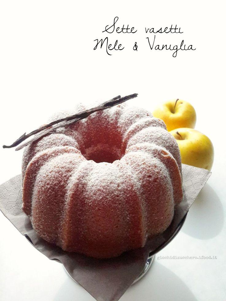 Torta 7 vasetti vaniglia e confettura di mele