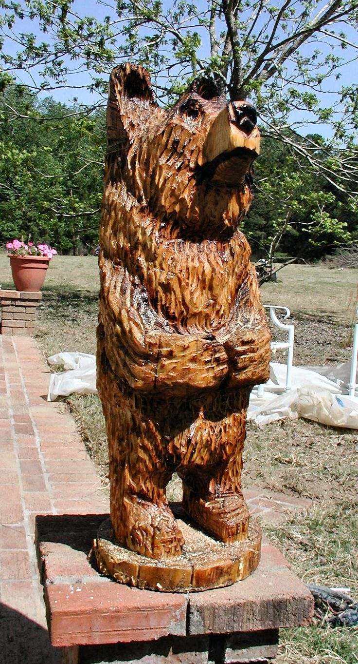 Wood carved black bear sale chainsaw carvings bears