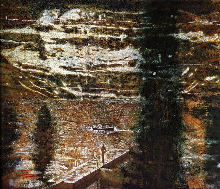 peter doig | Jetty - Peter Doig - WikiPaintings.org