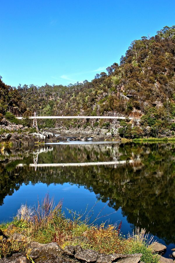 Cataract Gorge in Tasmania, Australia - see more photos of Tasmania at: http://mag.gobehindthescenery.com.au/ #BTSTassie #Tasmania