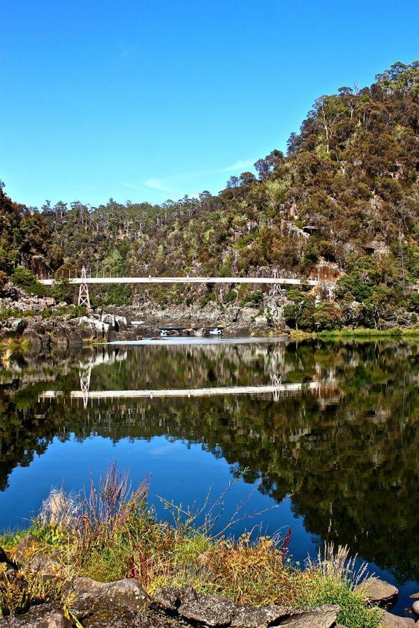 Cataract Gorge in Tasmania, Australia - see more photos of Tasmania at: http://mag.gobehindthescenery.com.au/ #BTSTassie #Tasmania