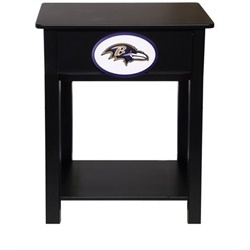 Baltimore Ravens Black Nightstand Side Table Furniture. C.F.