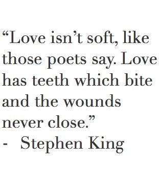 love has teeth // stephen king