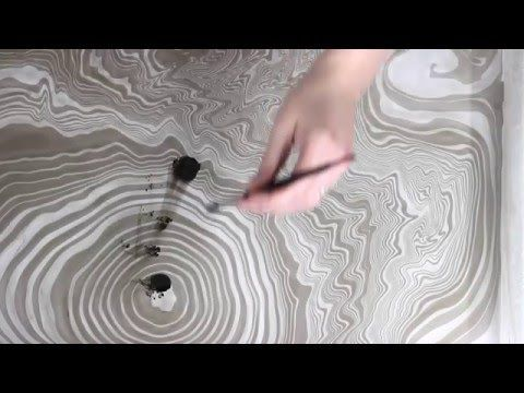 Paper Marbling Water Marbling And Youtube On Pinterest