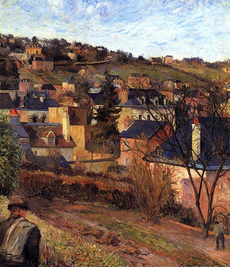 Paul Gauguin - Blue Roofs, Rouen, 1884.