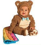 Little Brown Bear Baby Halloween Costume 18-24 Months   Is there anything cuter on Halloween than a baby all dressed up? Of course not. Your infant or toddler will be the hit of the neighborhood. in our super cute Halloween costume made especially for them. Super soft, sized just for them. Super soft chenille and fleece romper comes with a blanket, headpiece, inner leg snaps for easy changing.    Fits baby 18-24 months.  $36.00
