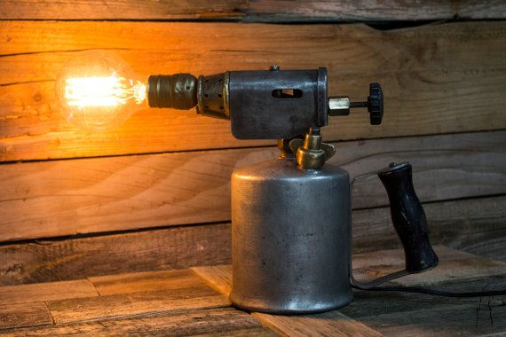 Vintage Blow Torch Lamp Industrial Table Lamp by PriosTeam on Etsy