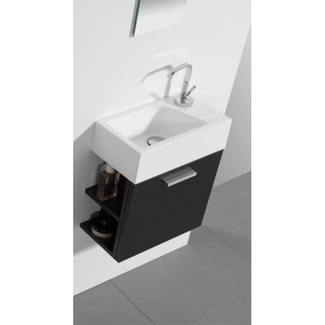 Die passende Armatur finden Sie hierGäste-WC Badmöbel Waschbecken ...