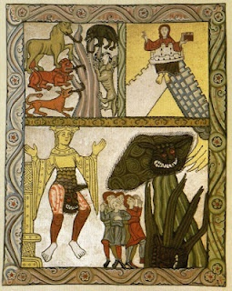 Hildegard of Bingen, Illumination for. Scivias III.5 in the Rupertsberg MS.