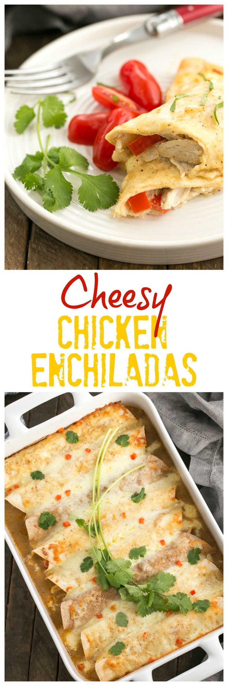 Cheesy Chicken Enchiladas | Irresistible, Cheesy Chicken Enchiladas from scratch! @lizzydo