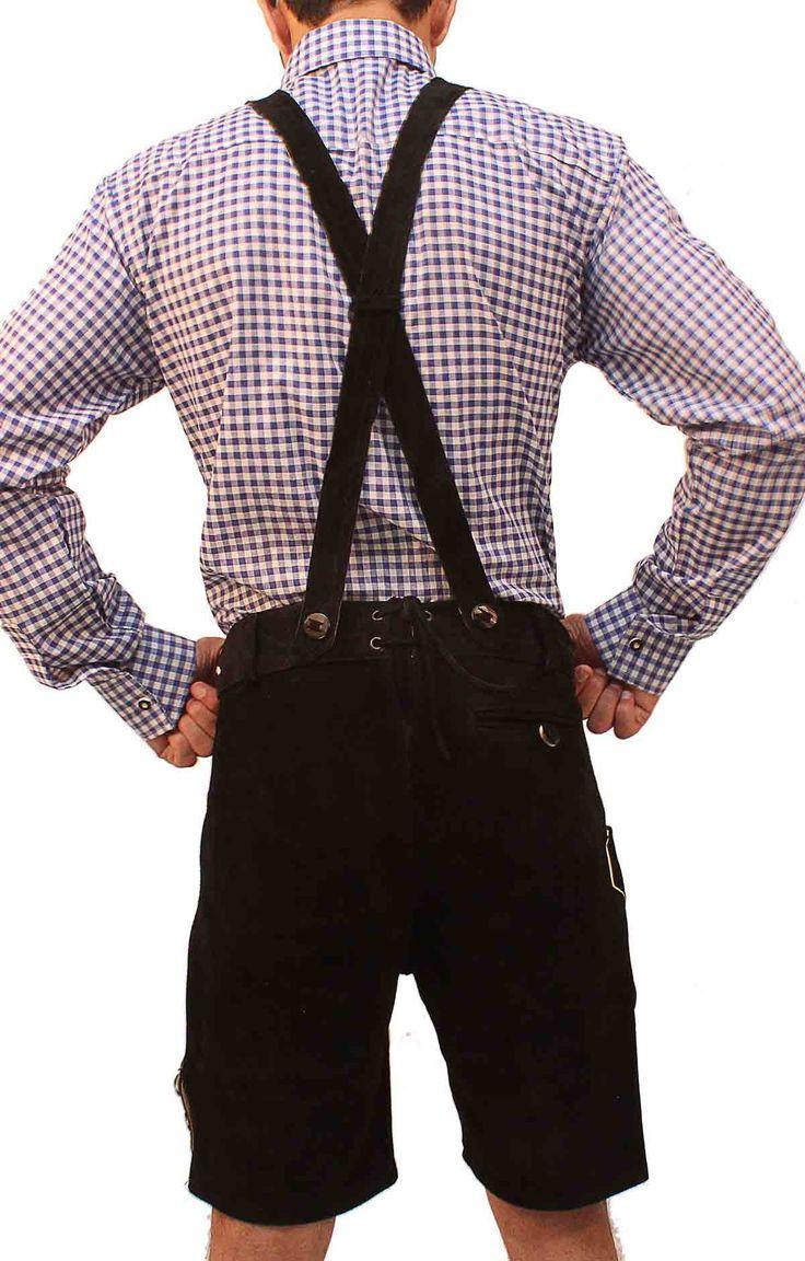 Authentic lederhosen for men. Long kniebund lederhosen and short leather trousers. Perfect german costumes for ocktoberfest! Stylish lederhosen for men with embroidery and adjustable buckles. Buy lederhosen now for sale with a free bavarian shirt.  www.lederhosenstore.com   #Tracht #Dirndl #German #Outfits #cheap #Oktoberfest #lederhosen #bundhosen #trousers #shorts