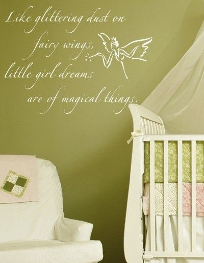 Fairy Dust Wall Decal. This would be great in clairas tinkerbell room. Maybe in her next one when we move?