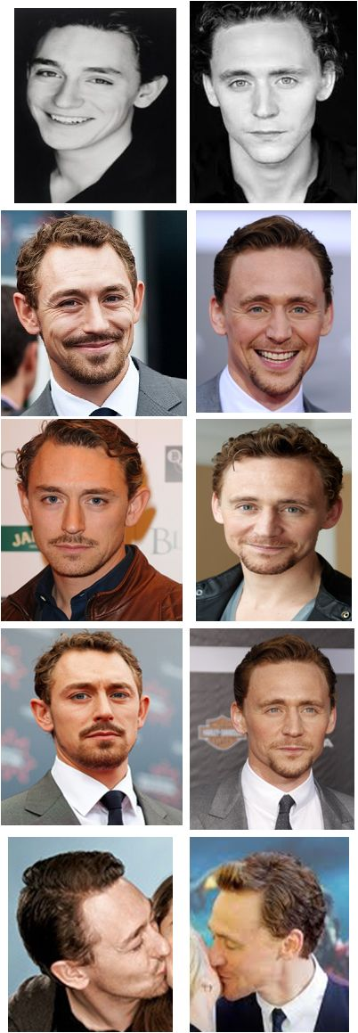 JJ Feild & Tom Hiddleston. Amazing how alike they look. Charles Darnay and Sydney Carton?! IF ONLY.