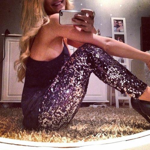 Sequin leggings, must for January Vegas trip!