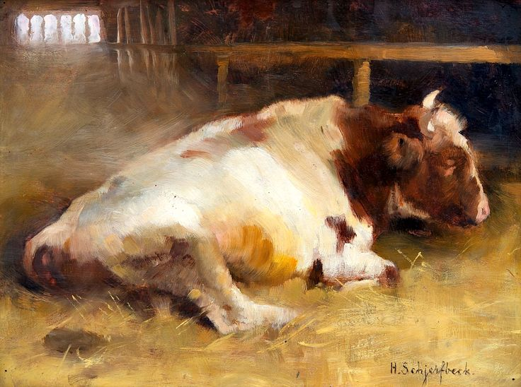 Helene Schjerfbeck, Resting Young Bull