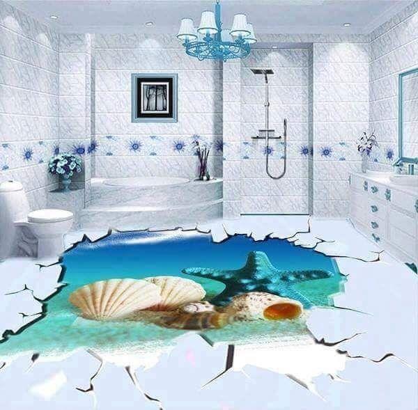 Pin Von Bathroom Auf Bathroom Walls Floors In 2020 Bodengestaltung Epoxit Boden 3d Bodenbelag