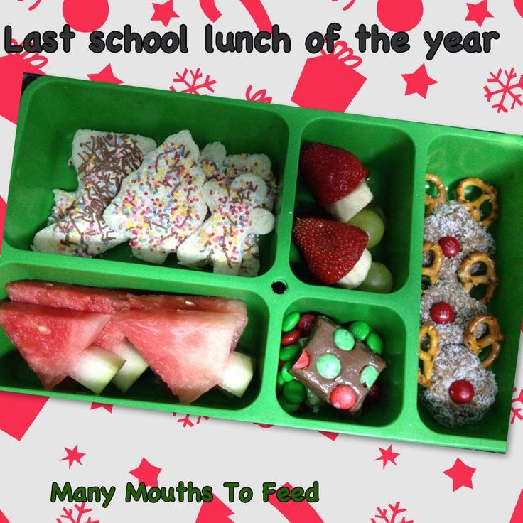 Here is a Xmas themed lunch that I made for Mr 7