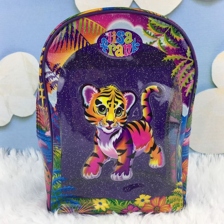 Vintage LISA FRANK Tiger Cat Backpack Purple Plastic Small Mini Bag | Clothing, Shoes & Accessories, Kids' Clothing, Shoes & Accs, Girls' Accessories | eBay!