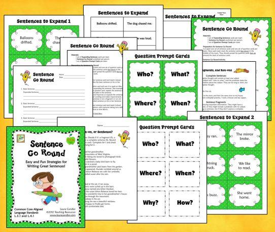 how to teach kids to write sentences