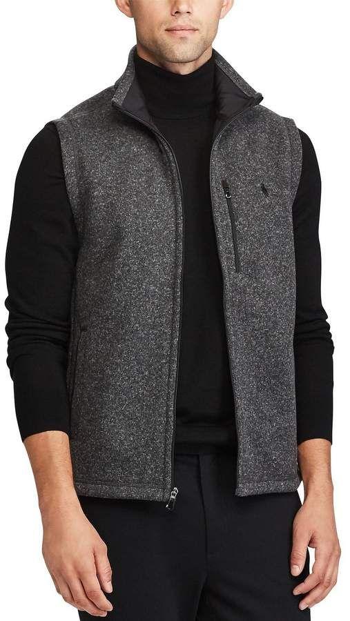 Polo Ralph Lauren Big Tall Fleece Mockneck Full Zip Sweater Vest