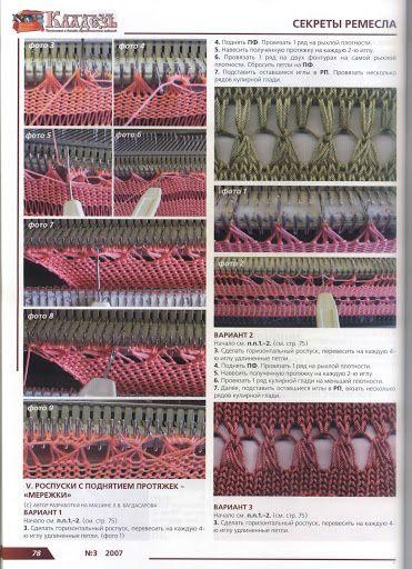 Machine knitting picture tutorials