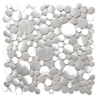 SOHO Studio Corp Aluminum Mosaic Circles Silver