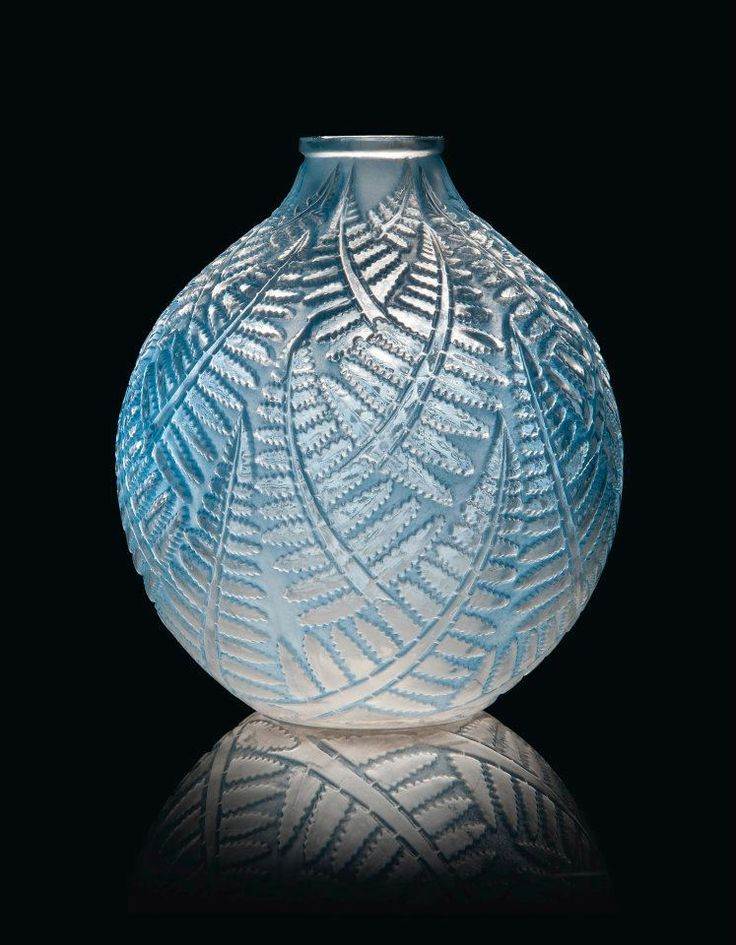 Lalique Glass Tinted Vase