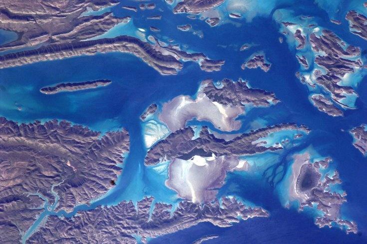 Kimberley Coastline, Western Australia, from space. Photo by European Space Agency Astronaut Paolo Nespoli. #InternationalSpaceStation #Earth