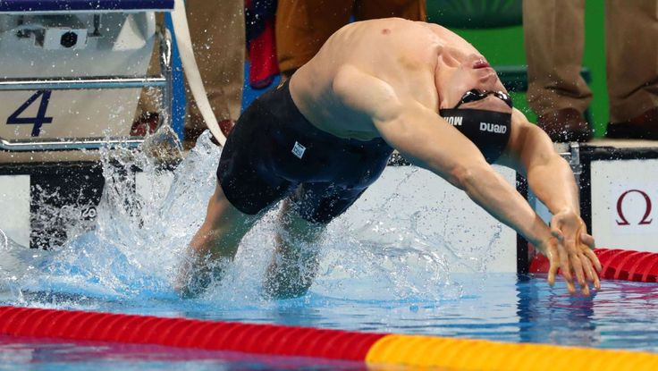 Swimming-Evening Session:    Ryan Murphy (USA) in the men's 100m backstroke final during the Rio 2016 Summer Olympic Games at Olympic Aquatics Stadium.