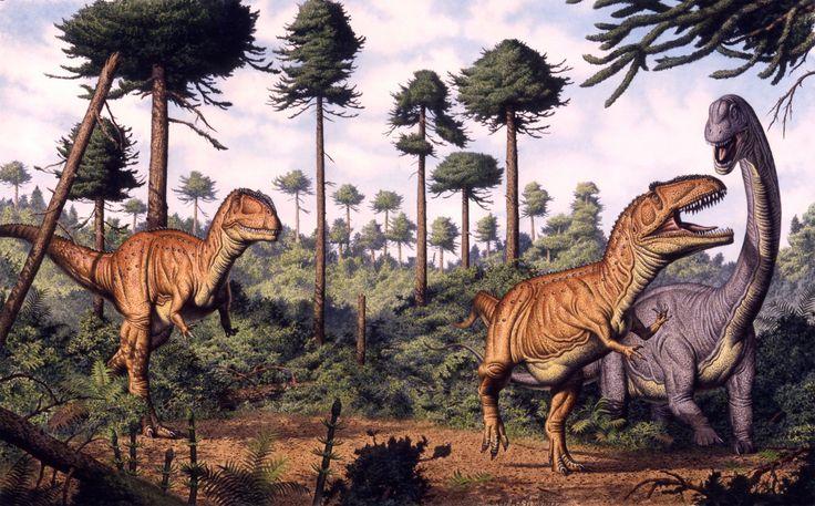 Bob Walters - Two Giganotosaurs stalking Andesaurus