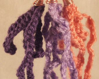 Violet, lilac and pink crocheted earrings! Buy 3 get 1 for free! €7.80 + shipping