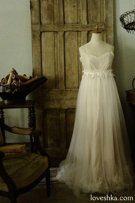 dress no4 / ウェディングドレス / ヘッドドレス / ティアラ / ベール / グローブ / ブローチ/ ウェディング / 結婚式 / wedding / オリジナルウェディング / プティラブーシュカ / トキメクウェディング