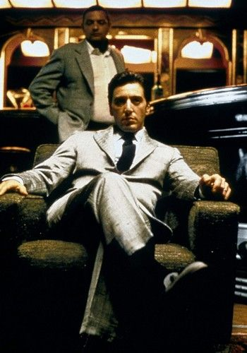 Michael Corleone (The Godfather Part II) I love him with his nice suits!